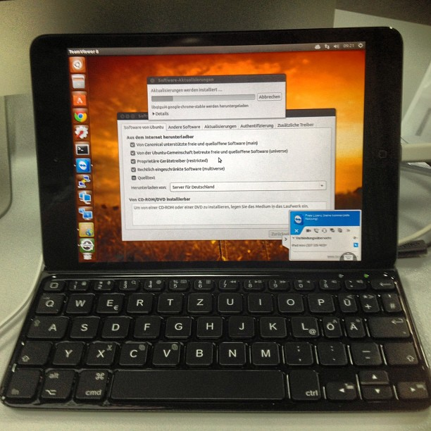 Instagram-Photo: remotesession from a #ipadmini to #ubuntu desktop