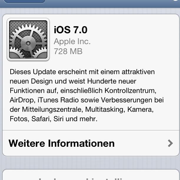 Instagram-Photo: #ios7 Update verfügbar