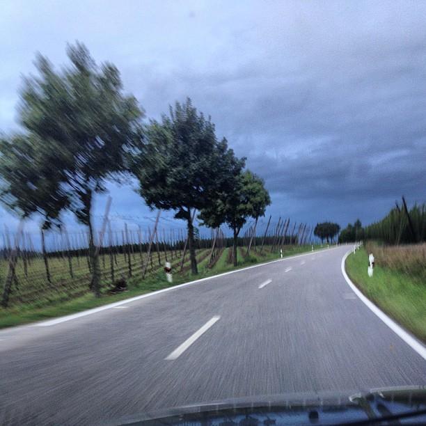 Instagram: Dunkle Wolken über dem Hopfenland