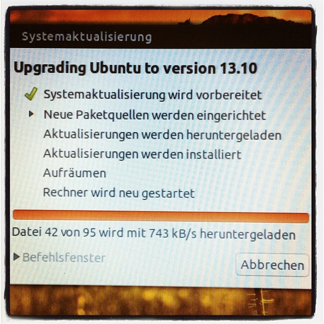 Instagram-Photo: Updating Ubuntu to 13.10