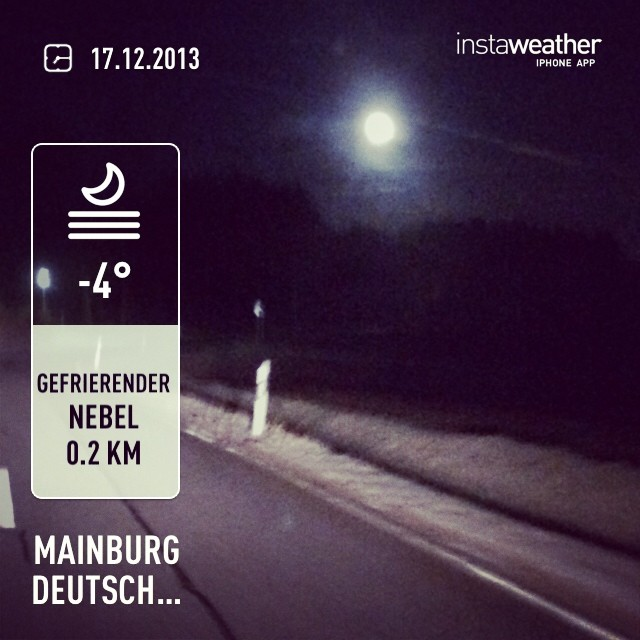 Instagram-Photo: Ziemlich kalt heute.