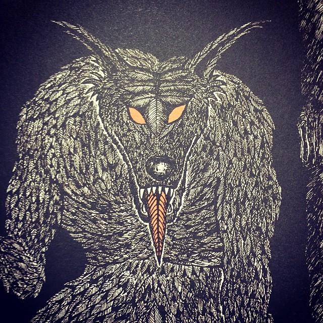 Daseinform aus : der Laubwolf.