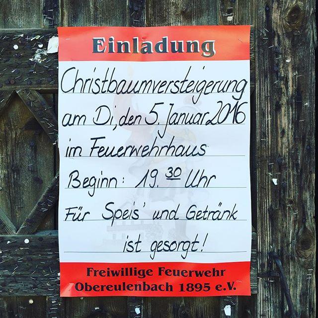 Christbaumversteigerung der FF Obereulenbach