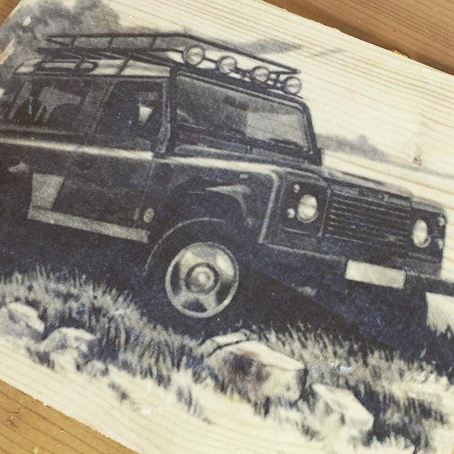 Neues Holzbild für Fan.