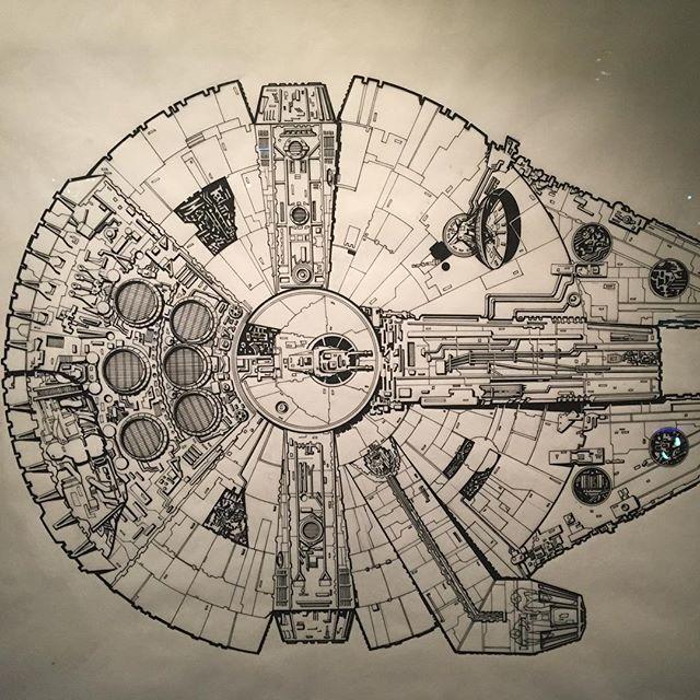 Der Millennium Falcon, die schnellste Schrottmühle in der Galaxie.