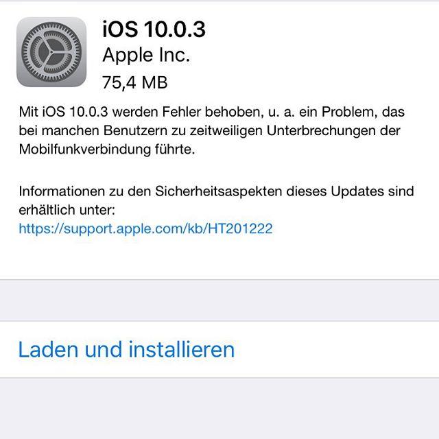 iOS Update verfügbar
