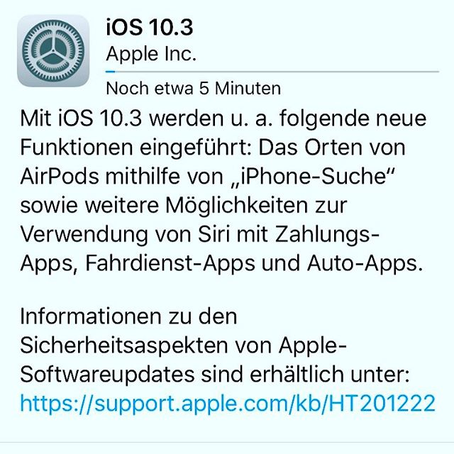 iOS Update 10.3