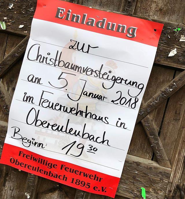 Vormerken: Christbaumversteigerung in Obereulenbach