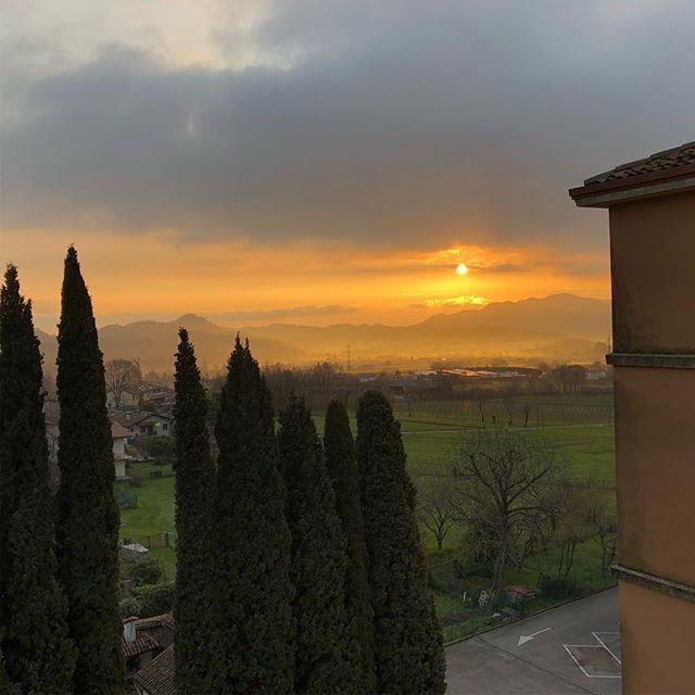 Sonnenaufgang in Paderno del Grappa