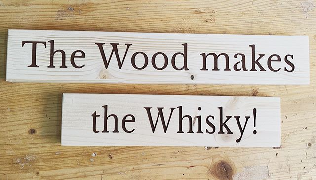 The Wood makes the Whisky.